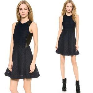rag & bone Basha Leather Trim Dress - Indigo, 2